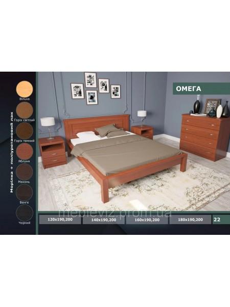Деревянная кровать Омега