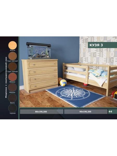Деревянная детская кровать Кузя 3