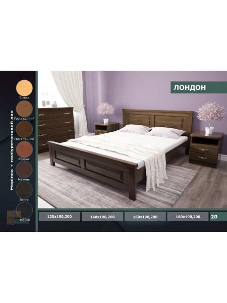 Деревянная кровать Лондон