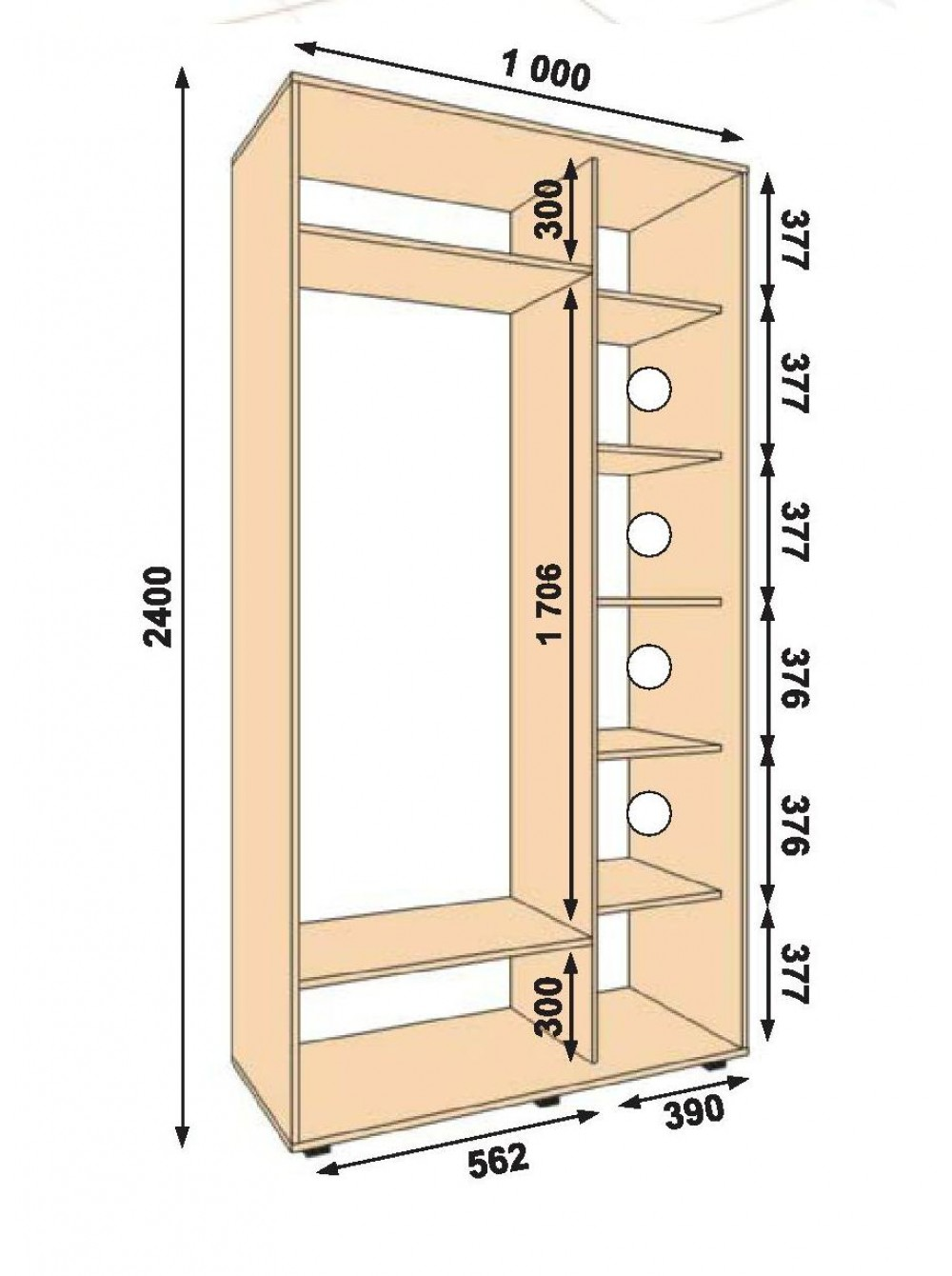 Внутреннее наполнение для шкафов купе. Фото, рекомендации 39