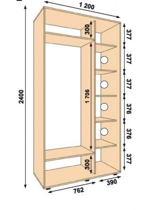Шкаф купе ольха схема