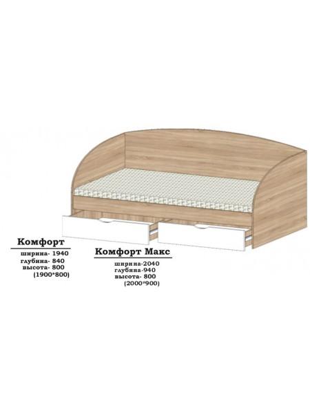 Кровать Комфорт   (1,9*0,8) Алекса