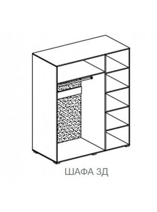 Шкаф 3Д Бианко