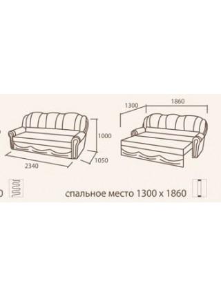 Комплект Лилия диван + 2 кресла (раскладные или не раскладные)