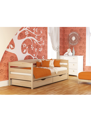 """Кровать деревянная  """"Нота Плюс"""" (ЩИТ/МАССИВ)"""