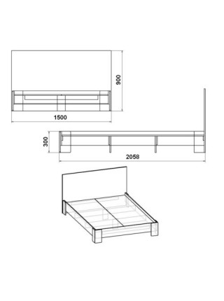 """Кровать """"Кровать-150 МДФ"""""""