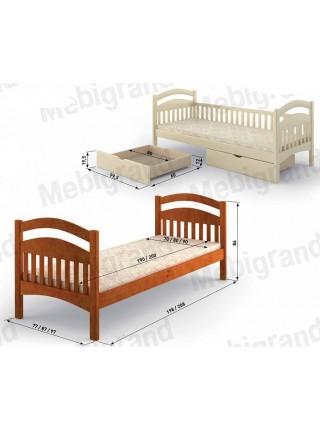 "Кровать  "" Жасмин Люкс "" с заборами"