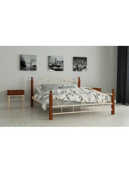 Металлическая двуспальная  кровать Гледис