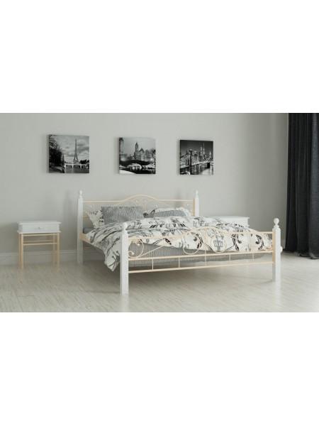 Металлическая двуспальная  кровать Адель
