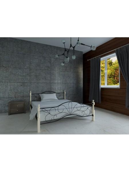 Металлическая двуспальная  кровать Виталина