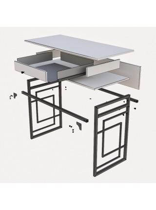 "Металлический стол ""Квадро"""