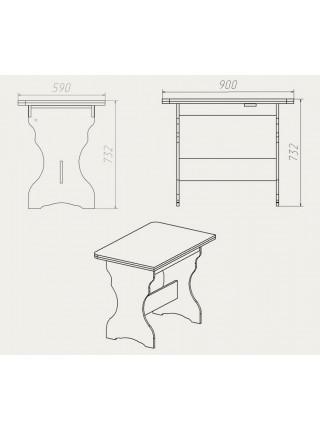 """Кухонный стол """"КС - 3"""""""