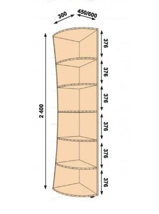 Консоль кривая 300Х450Х2400