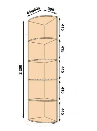 Консоль прямая 300Х450Х2200(2100)