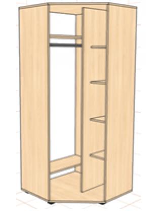 Шкаф угловой 800х800х450х2400 1-дверный