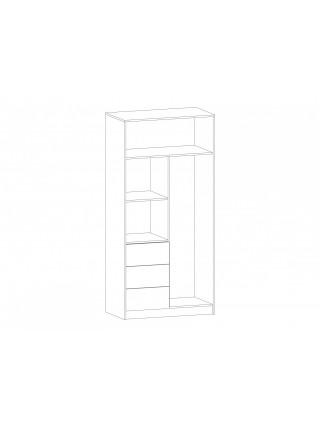 Шкаф 2Д3Ш Симба